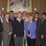 ESFLEA member, Dept.of Interior SAC, Clark Guy (third from left) with Secretary of Interior Gale Norton.