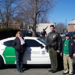 Pam Kinane, ESFLEA Parade Coordinator; BP Agent Antone Cappola, & ES VP John Kinane.