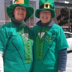 Colleen Callahan and Pat, ESFLEA Banner Bearers, 2010 San Francisco St. Patrick's Day Parade.