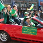 ESFLEA Pacific/Far East Region Director Glenn Moore and family,2010 San Francisco St. Patricks Day Parade.
