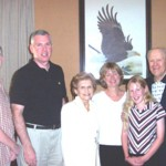 U.S. Secret Service SAC Bob Devine and family with President Gerald Ford and 1st Lady Betty ford.